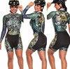 Terno de triathlon profissional, camiseta de ciclismo preta feminina, macacão, manga longa em gel, conjunto de ciclismo, 2019 23