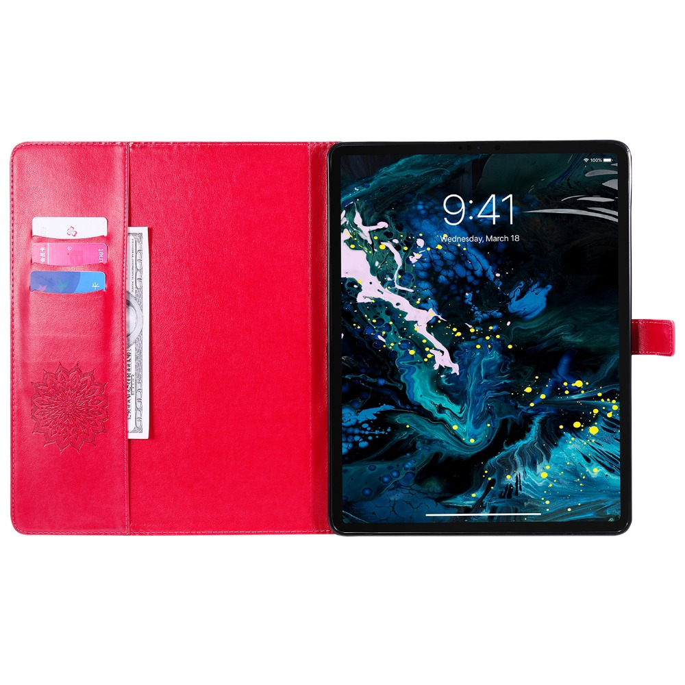 Flower Case 12 Cover 2020 for Embossed Skin 9 Leather 3D iPad Shell Pro Protective