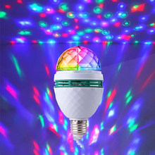 Neon Color Rotary Disco Light E27 Crystal Magic Lamp 3W Colorful Projection Lamp KTV Bar Charde Dance Color Change Atmosphere