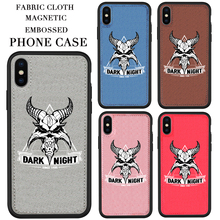 Famous EU/US design Fabric phone Case Animal Soft cloth Magnetic phone