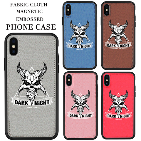 Famous EU/US design Fabric phone Case Animal Soft cloth Magnetic phone cover For iPhone 11 Pro X XS XR MAX 7 8 6 Plus Hard Back Pakistan