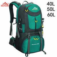 40L 50L 60L Im Freien Wasserdichte Taschen Rucksack Männer Bergsteigen Sport Rucksack Wandern Rucksäcke Frauen Tasche Camping Reisetasche