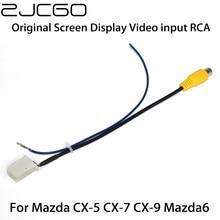 Car Rear View Backup Reverse Camera Adapter RCA Cable for Mazda 6 Atenza CX-5 CX5 CX-7 CX7 CX-9 CX9 Original Factory Screen