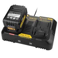 Frete grátis Carregador de Bateria LiIon 12 4.5A Max para Dewalt 10.8V V 14.4V 18V 20V DCB105 DCB101 DCB102 DCB112 DCB205 com porta USB