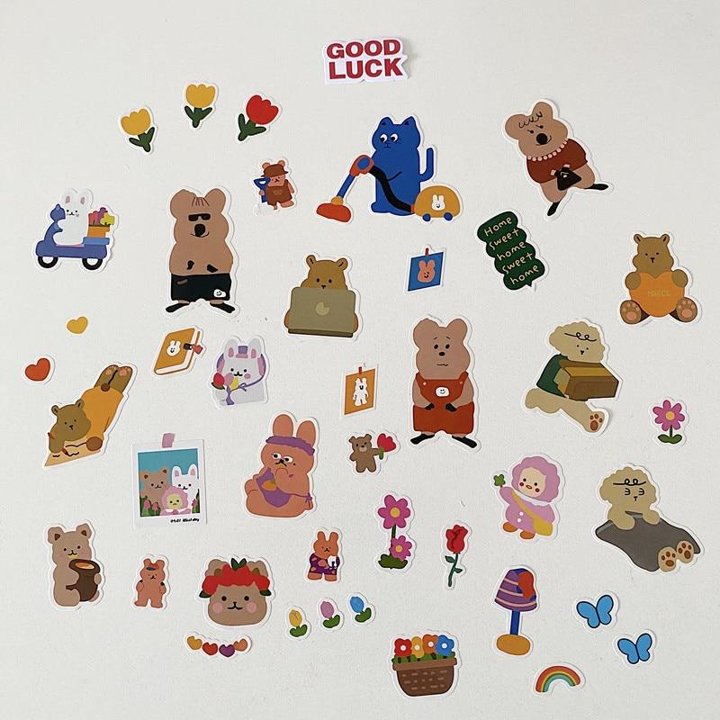 Korean Ins Cartoon Koala Bear Cute Stickers Stationery Creative post it Mobile Phone Laptop Ipods Ch