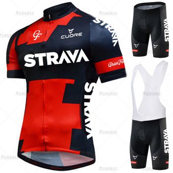 Strava conjunto de ciclismo conjunto camisa de ciclismo verão anti-uv mtb conjunto de bicicleta dos homens terno pro equipe de corrida uniforme roupas de ciclismo