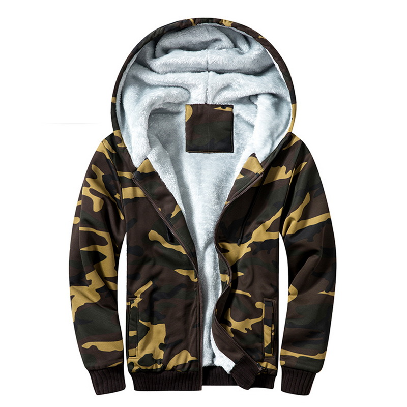 2019 Brand Winter Warm Jacket Men Fashion Camouflage Printing Parka Coats Casual Camo Patchwork Streetwear Slim Hoodies Outwear