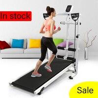 Folding Treadmill Mute Fitness Equipment Wide Run Belt Treadmill 3 In 1 Walking Twisting Waist Machine Home Training Sports HWC