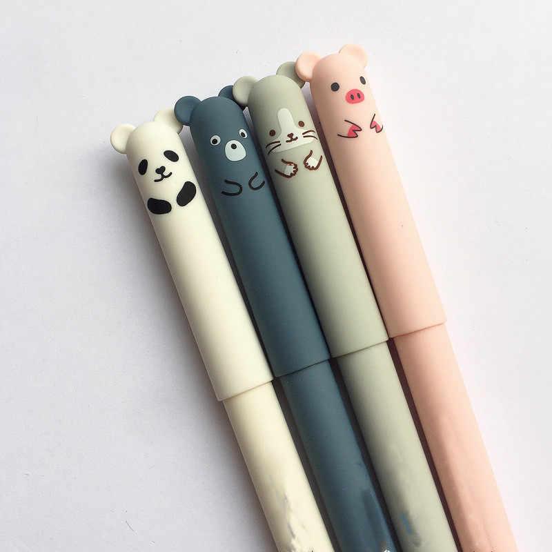 Animais dos desenhos animados Caneta Apagável Caneta 0.35 milímetros Bonito Panda Gato Magia Escrita Novidade Papelaria Canetas Gel Kawaii Canetas Para A Escola Meninas presentes