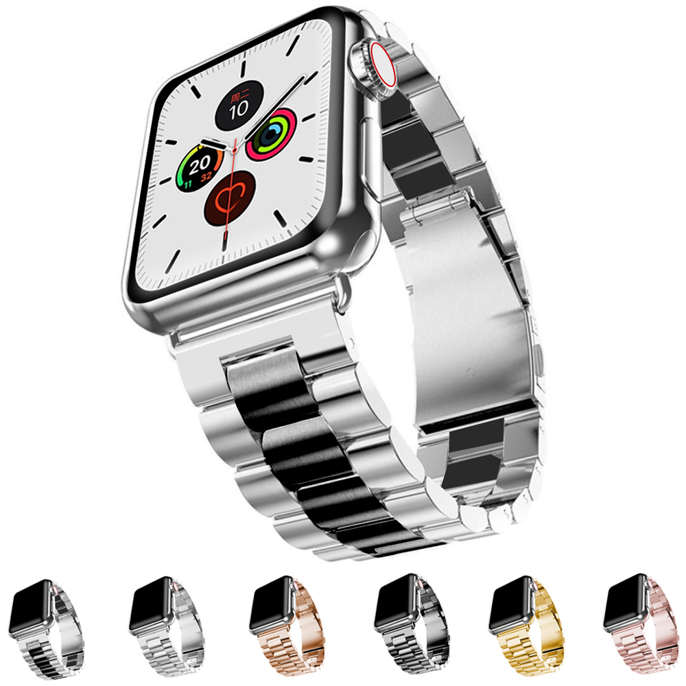 Stainless Steel Strap For Apple Watch 42mm 38mm Series 1 2 3 Metal Watchband Bracelet For IWatch Series 4 5 44mm 40mm Band