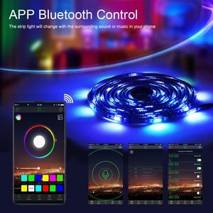 Image 5 - TV arkaplan ışığı RGB LED şerit 5050 su geçirmez 5V USB LED şerit dize aydınlatma APP ile Bluetooth denetleyicisi TV PC monitörü dekor