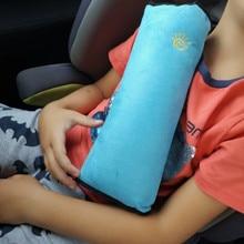 Детская Автомобильная мягкая подушка на подголовник, ремень безопасности, подушка на шею, ремень безопасности для автомобиля, ремень на голову, накладка на голову