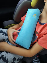 Baby Children Car Soft Headrest Seatbelt Cushion Neck Pillow Vehicle Seatbelt Strap Harness Head Pad Cover(China)