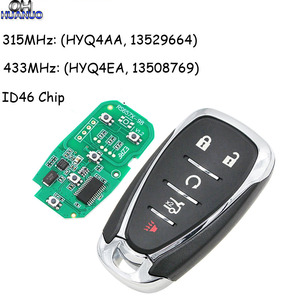 4+1/5 Button Smart Remote Key Fob for Chevrolet Camaro Equinox Cruze Malibu Spark 315MHz or 433MHz ID46 Chip HYQ4AA H