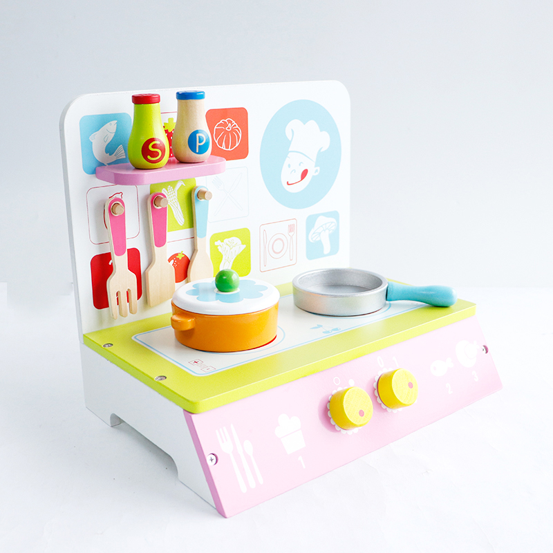 US $37.43 15% OFF|Mother Garden Baby Kids Wooden Kitchen Cooking Toys  Wooden Kitchenette Gas Stove Educational Toys for Girl Gift kids kitchen  toy-in ...