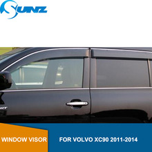 Side window deflectors For  VOLVO XC90 2011 2012 2013 2014 Window Air Vent Visor Sun Shade Awnings Shelters Guards  SUNZ
