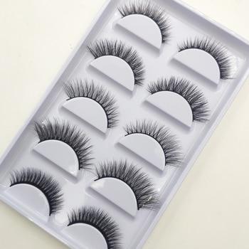 Wholesale 10/50/100 Boxes Mix 5 Pairs Natural 3D Mink False Eyelashes Makeup Fake Eye Lashes Faux Cils Make Up Beauty Tools 1