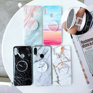 Marble Case For Xiao Redmi Note 8 Cases Funda For xiaomi mi 9T 6 7 Pro Lite Pro Cover Grip Stand Holder Soft TPU Back Coque Case(China)