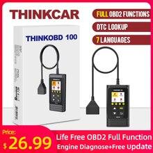 THINKCAR THINKOBD 100 All OBD2 Functions Car Scanner Diagnostic Tool DTC Lookup VIN Live Data Reset Engine Light Diagnostics