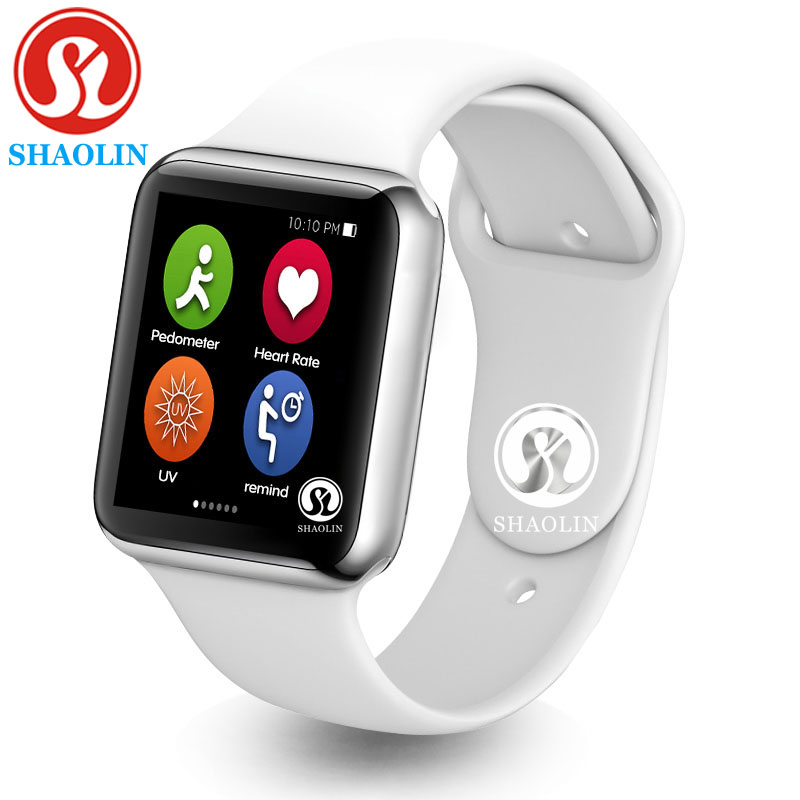 Smart Watch Series 4 Heart Rate Smartwatch upgraded with Red button Gloosy steel case 8 clocks