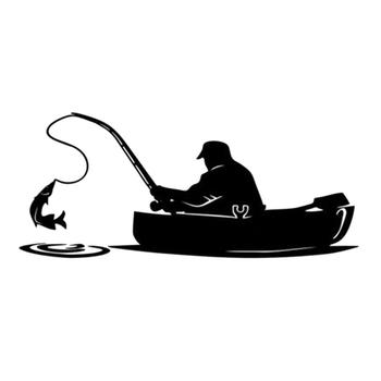 50% HOT SALES!!!New Arrival Fashion Fishing Fish Boat Pattern Truck Car Stickers Window Decals Decoration image