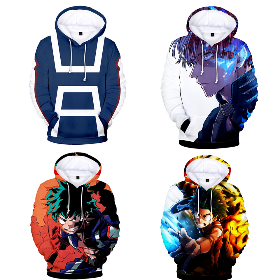 Anime My Hero Academia Cosplay Men Sweatshirt Casual Hoodie Harajuku Sweatshirt Long Sleeve Men Women Clothing Academy Suit Coat