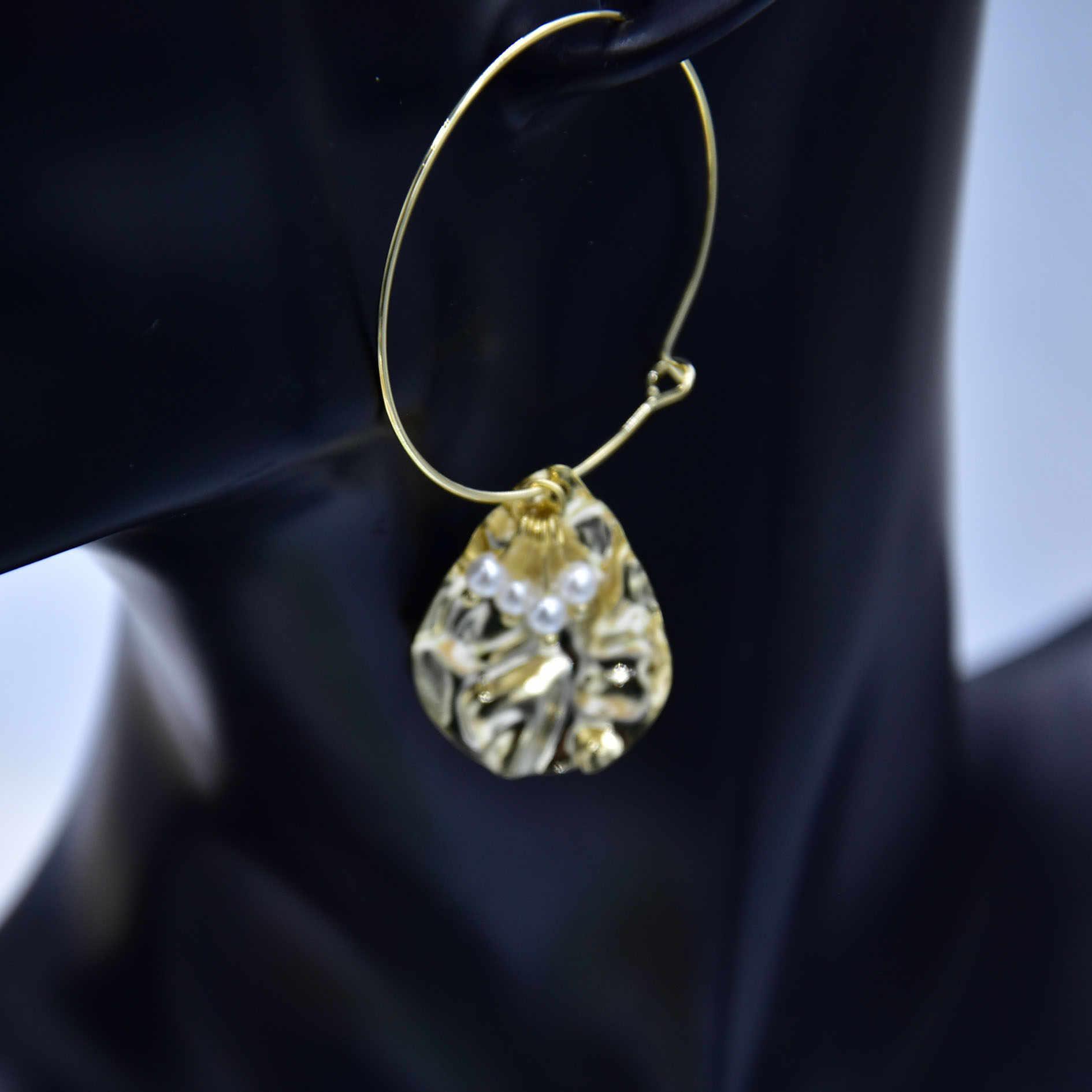 Новые модные женские круглые подвеска в форме сердца серьги вечерние пресноводные жемчужные серьги в форме листа Cerun модных женских ювелирных изделий