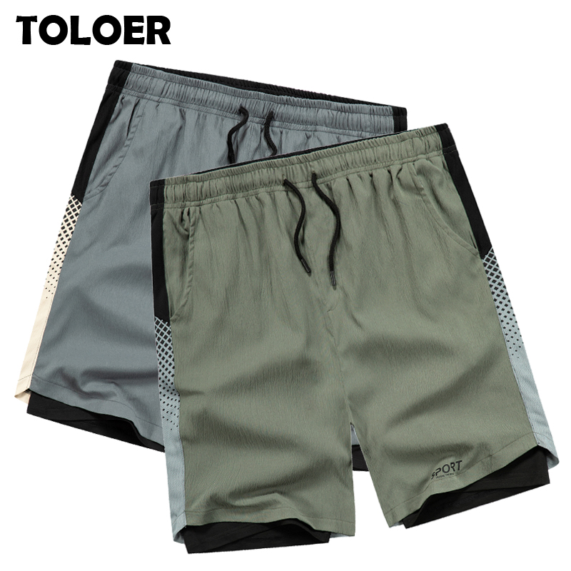 Fitness Shorts Men Summer 2020 Fashion 2 in 1 Jogging Shorts Active Training Mens Bodybuilding Jogger Short Pants Running Shorts