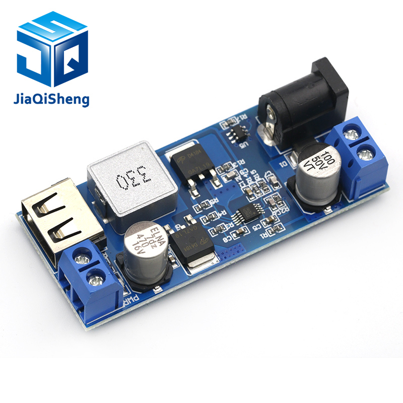 DC-DC 24V/12V To 5V 5A Step Down Power Supply Buck Converter Replace LM2596S Adjustable USB Step-down Charging Module For Phone