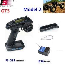 FlySky FS-GT5 2,4G 6CH RC Transmitter Fernbedienung mit FS-BS6 Empfänger für RC Auto Crawler Boot Fahrzeug RC Modell teile