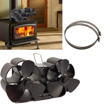 Mini Size 8 Blade Stove Fan Silent Heat Powered Wood Log Burner Fan Fan Fireplace for Ultra Small Space