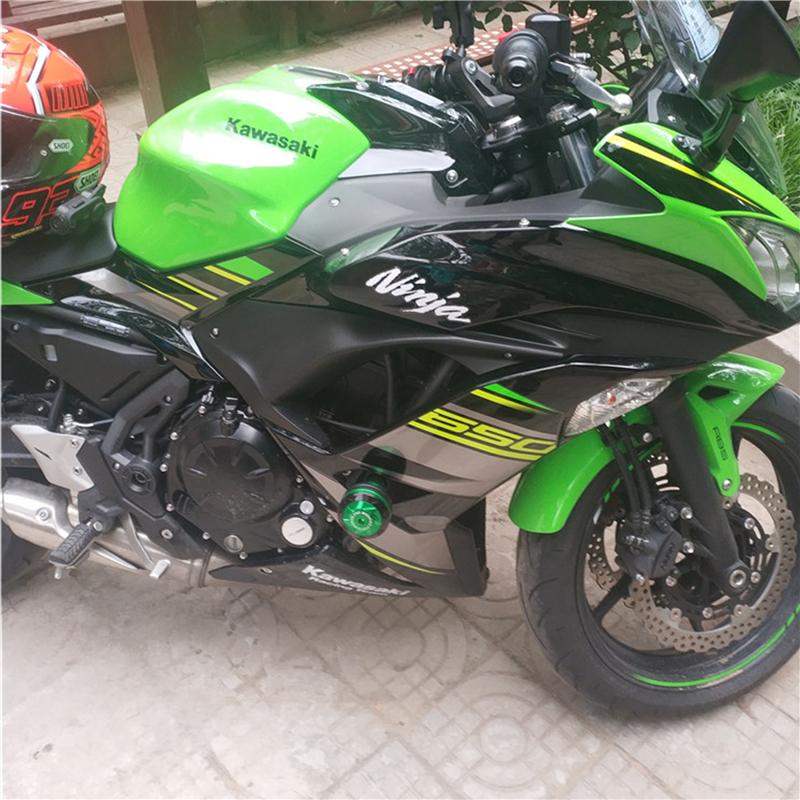 Rear Wheel Axle Slider Crash Protector for Kawasaki Z650 Ninja 650 2017 2018 2019 2020 Motorcycle Calipers Protector Z 650 Black