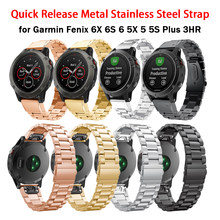 26 22 20MM métal attache rapide bracelet de montre pour Garmin Fenix 6X 6 6S montre intelligente bracelet en acier inoxydable pour Fenix 5X 5 5S