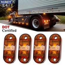 4 X Zijmarkeringslichten Led Positie Side Lampen Achterlichten 12V 24V Amber Universal Voor Trailer Van caravan Vrachtwagen Vrachtwagen Auto Bus