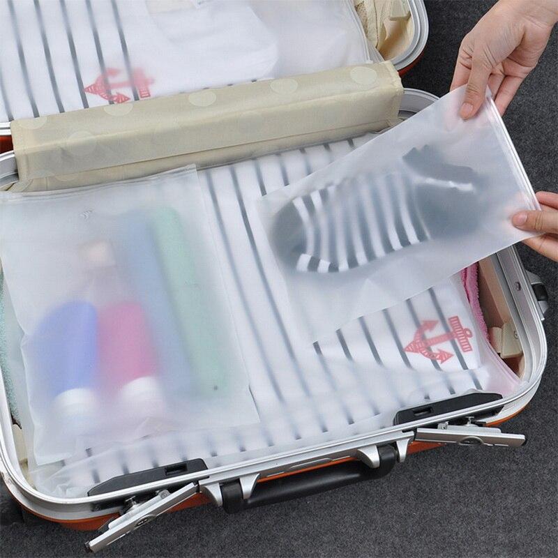 Cloth Sealed Transparent Storage Bags Travel Organizer Cosmetic Makeup Pouch Shoe Organizers Clothes Underwear Zip Storage Bag