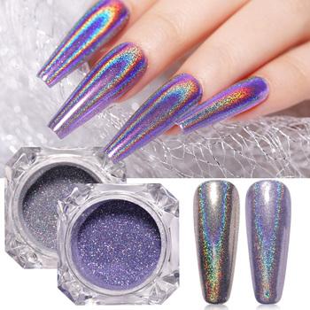 Świecący paznokcie kryształy hologram w proszku nowy Laser Burst cukier brokat pył DIY paznokci chromowane artystyczne ozdoby pigmentowe 3D Charms tanie i dobre opinie CN (pochodzenie) 1 Box Powder BROKAT DO PAZNOKCI 44946