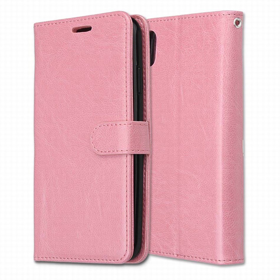 Simple Leather Covers Book Cases For Apple iPhone 4G 5G 6G 7G 8G 6 7 8 Stand Fundas Solid Color Frame Coque Card Holder P08G in Flip Cases from Cellphones Telecommunications