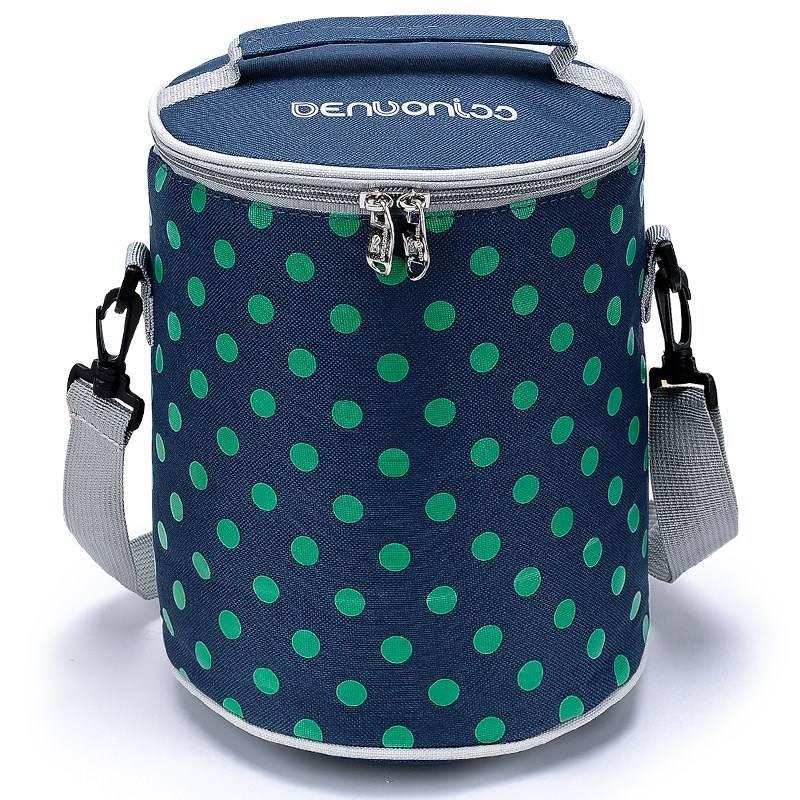 New Products Container Bag Handbag Aluminum Foil Thick Thermal Bag Waterproof Container Bag Circle Bento Box Bag Food Carrying