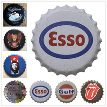 [Luckyaboy]3D Embossed beer Bottle Caps Metal Tin Signs Plates Retro Wall Art Plaque Vintage Cafe Bar Pub Home Decor