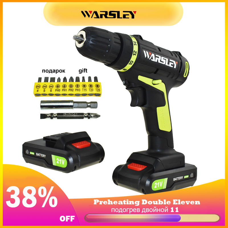1.5Ah Battery Capacity 21v Electric Screwdriver Power Tools Electric Drill Cordless Drill Mini Drill Batteries Screwdriver Eu|cordless drill|electric drill|battery drill - title=