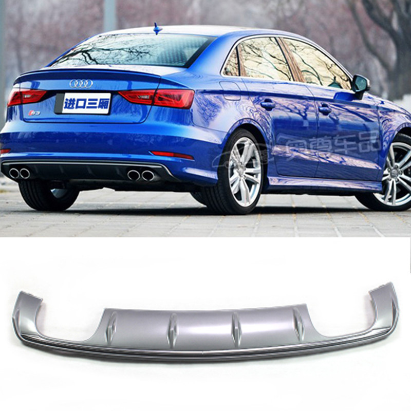 For <font><b>Audi</b></font> <font><b>A3</b></font> PP <font><b>Rear</b></font> Body Kit Bumper <font><b>Diffuser</b></font> Auto Modified Accessories 2014 2015 <font><b>2016</b></font> Standard Bumper Only image