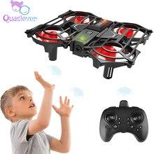 Crianças mini zangão 2.4g 6 eixos rc quadcopter helicóptero aeronaves fixa 3d flip e modo headless quadcopter helicóptero rc para crianças