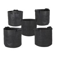 5 Pack 10 galonów rosną torby/napowietrzania tkaniny garnki w/uchwyty (czarny) w Torby ogrodnicze od Dom i ogród na