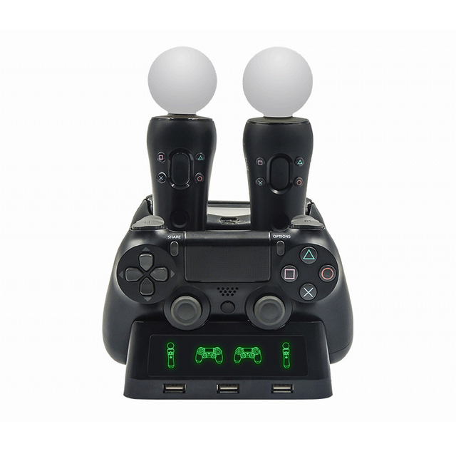 Gamepad Charger Station for PSVR PS4 Base VR handle Controller Stand Holder PS Move Motion Game Joystick Charging Dock for PS