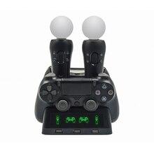 Stacja ładująca Gamepad dla PSVR PS4 podstawa kontroler uchwytu VR uchwyt stojaka ruch PS Motion Joystick do gier stacja do ładowania dla PS
