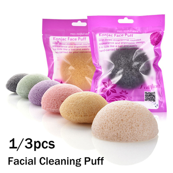 1/ 3pcs Natural Konjac Facial Cleaning Sponge Brushes Face Cleanse Washing Cosmetic Puff Blackhead Remover Facial Care Tools