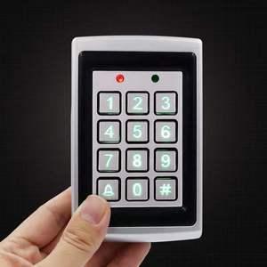Image 4 - 8000 gli utenti di Cassa del Metallo Tastiera di Controllo di Accesso con Retroilluminazione Porta Singola di Controllo Indipendente di Codice Dispositivo di Accesso Digitale