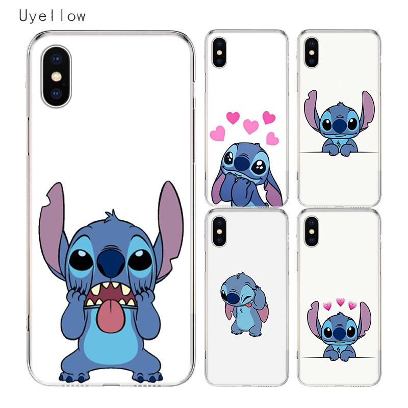 Uyellow Disneys Stitchs TPU Trend Cover For Iphone 5 6S 7 8 9 10 Plus Silicone Soft Phone Case Apple X XR XS MAX Coque Shell