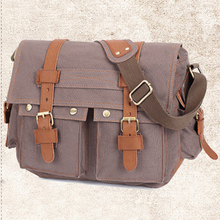 Bag Larger-Capacity Portable Hasp Closure Canvas Business Zipper Travel Hiking Outdoor