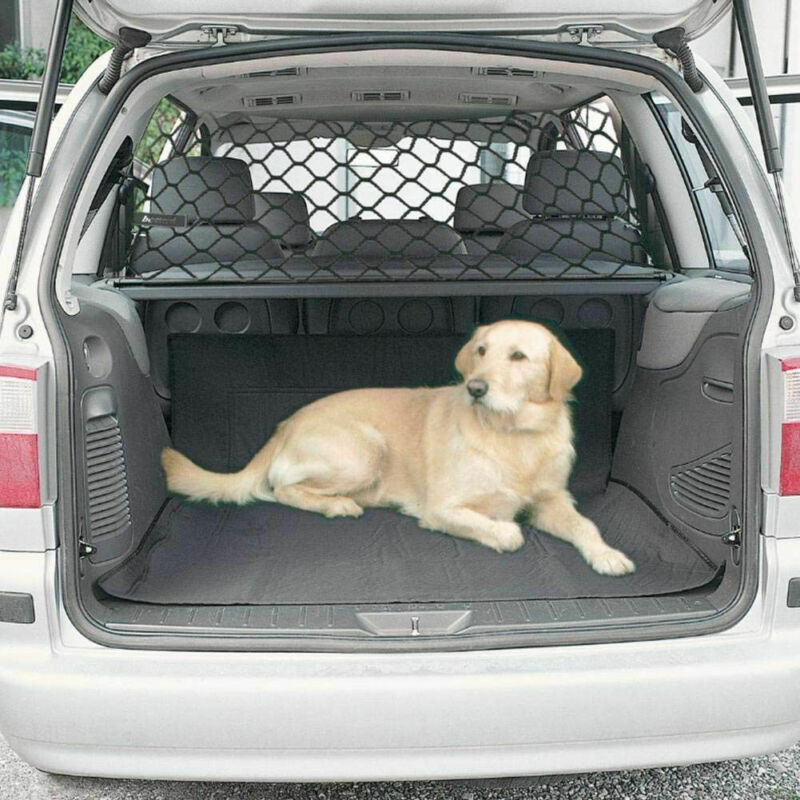 Universal Pet Safety Mesh Net Car Suv Van Trunk Seat Mesh Dog Barrier Travel  Dogs Black Protecter